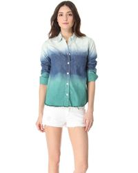Free People - Blue Before Sunrise Button Down Shirt - Lyst