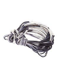 Gillian Julius - Black Multi Tubing Bracelet - Lyst