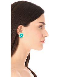 Kenneth Jay Lane - Blue Flower Post Earrings - Lyst