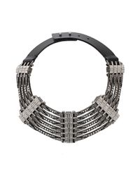 Lanvin - Gray Dedale Collar Necklace - Lyst