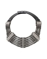 Lanvin | Gray Dedale Collar Necklace | Lyst