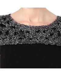 Max Mara Studio - Black Embellished Shift Dress - Lyst