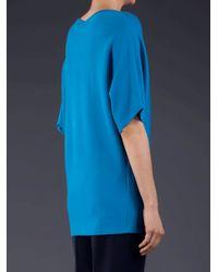Michael Kors   Blue Super Cashmere Dolman Scoopneck Pullover   Lyst