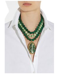 Rosantica - Green Artemide Agate and Opal Necklace - Lyst