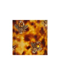Alexander McQueen - Multicolor Plexi Tortoiseshell Bee Cuff - Lyst