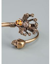 Alexander McQueen | Metallic Twin Skull Bee Bracelet | Lyst