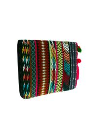 ASOS - Multicolor 15 Laptop Case in Aztec with Pom Pom - Lyst
