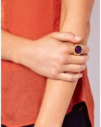 ASOS - Purple Vintage Style Cocktail Ring - Lyst