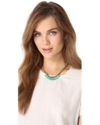 Elizabeth Cole - Metallic Mohawk Necklace - Lyst
