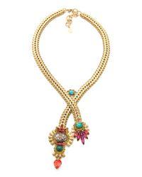 Elizabeth Cole - Metallic Y Necklace - Lyst
