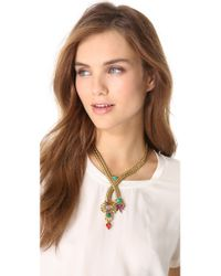 Elizabeth Cole - Metallic Y Necklace - Lyst
