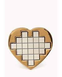 Forever 21 - Metallic Pixelated Heart Ring - Lyst