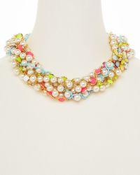 kate spade new york - Multicolor Bungalow Bouquet Torsade Necklace 20 - Lyst