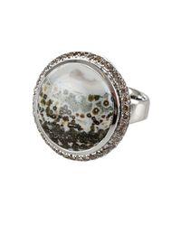 Tamara Comolli - Metallic Small Oceanjasper and Brown Pave Ring - Lyst
