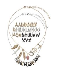 TOPSHOP - Metallic Make Your Own Necklace - Lyst