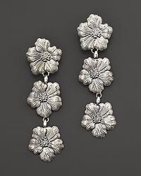 Buccellati | Metallic Blossom 3 Small Flower Pendant Earrings | Lyst