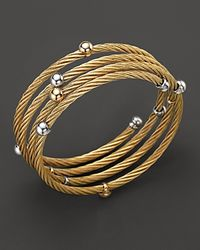 Charriol | Metallic Classique 18k Yellow Gold Spiral Wrap Bangle | Lyst