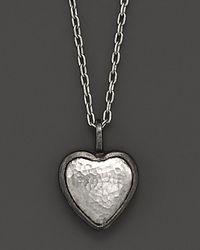 Gurhan - Metallic Sterling Silver Amulet Heart Necklace 1618 - Lyst