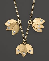 Meira T | Metallic Leaf Cluster Necklace 15 | Lyst