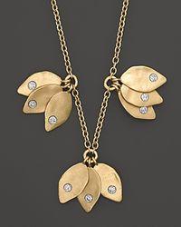 Meira T - Metallic Leaf Cluster Necklace 15 - Lyst