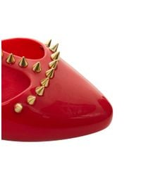 Melissa | Red Doris Spikes Tbar Shoes | Lyst
