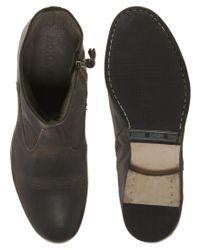 Rokin - Black Ryder Leather Zip Boots for Men - Lyst