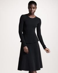 Roland Mouret | Black Barnicles Stretch Crepe Dress | Lyst