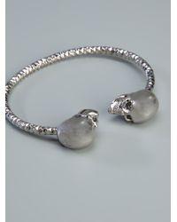 Alexander McQueen | Metallic 'twin Skull' Bracelet | Lyst
