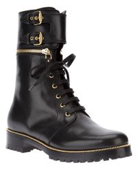 Sergio Rossi - Black Zip Trim Boot - Lyst