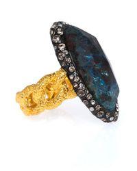 Alexis Bittar - Blue Cordova Chrysocolla Chain Link Ring - Lyst