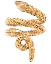 Aurelie Bidermann | Metallic Asclepios Snake Ring | Lyst