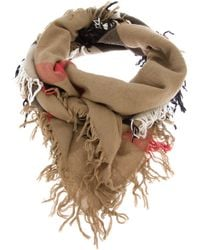 Burberry - Natural House Check Scarf - Lyst