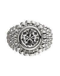 Dyrberg/Kern | Metallic Erta Silver Crystal Ring | Lyst
