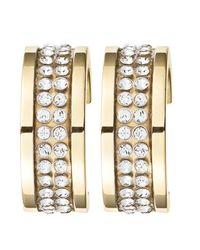 Dyrberg/Kern - Metallic Kimmie Gold Crystal Earrings - Lyst