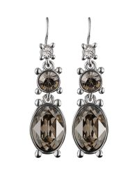 Dyrberg/Kern   Metallic Raine Shiny Silver Satin Earrings   Lyst