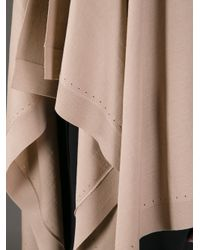 Givenchy - Natural Asymmetric Ruffled Cardigan - Lyst