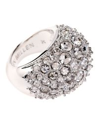 Karen Millen | Gray Encrusted Ring | Lyst