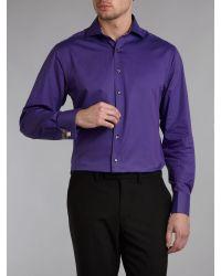 Simon Carter - Purple Luxury Twill Long Sleeve Shirt for Men - Lyst