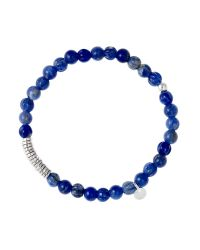 Tateossian - Disc Round Blue Sodalite Beaded Bracelet With Silver Spacer Discs - Lyst