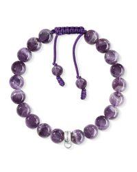 Thomas Sabo | Purple Charm Club Amethyst Bracelet | Lyst