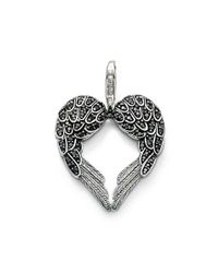 Thomas Sabo | Classic Black Winged Heart Pendant | Lyst