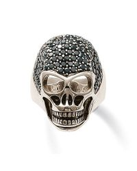 Thomas Sabo | Rebel At Heart Black Zirconia Skull Ring | Lyst