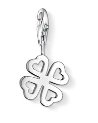 Thomas Sabo | Metallic Charm Club Clover Leaf With Heart Petals | Lyst