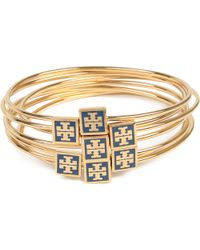 Tory Burch | Blue Enamel Stacking Bangles | Lyst