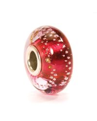 Trollbeads | Pink Silver Trace Glass Charm Bead | Lyst