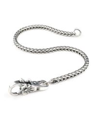 Trollbeads | Gray Flower Invitation Bracelet | Lyst
