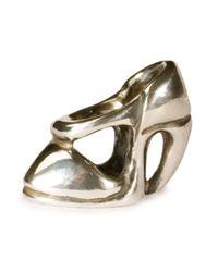 Trollbeads | Metallic High Heel Silver Charm Bead | Lyst