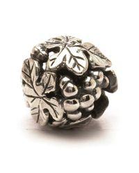 Trollbeads | Metallic Wine Harvest Silver Charm Bead | Lyst