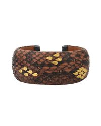 Yossi Harari - Small Brown Python and Leather Cuff - Lyst