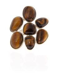 Ziba | Metallic Tiger Eye Multi Stone Ring | Lyst